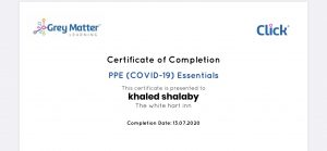 Certificate of qualification - PPE Essentials